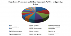 Breakdown of Computers and Virtual Machines in Portfolio by Operating System