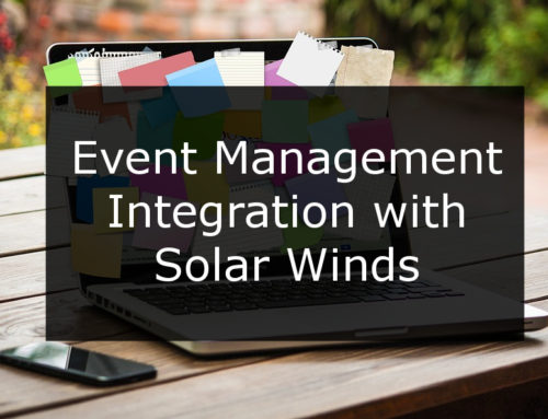 Event Management Integration with Solar Winds