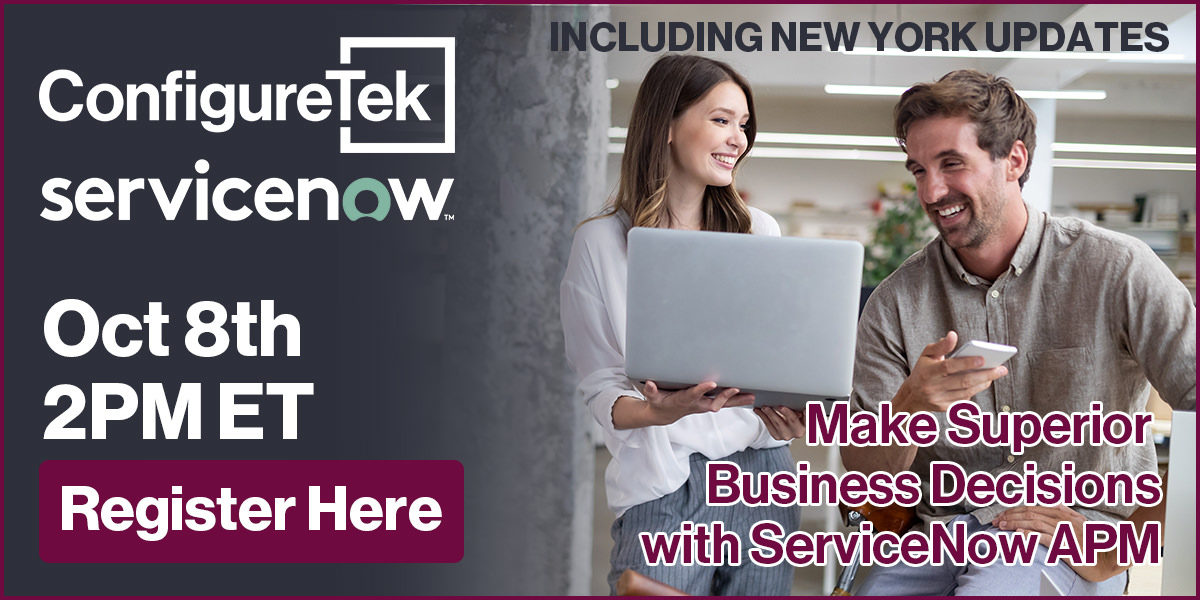Make Superior Business Decisions with ServiceNow Application Portfolio Management (APM)